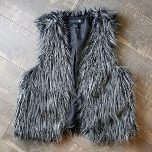 Forever 21 Festival Style Boho Faux Fur Vest